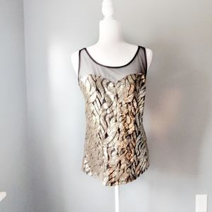 Charlotte Russe Gold Sequin Tank